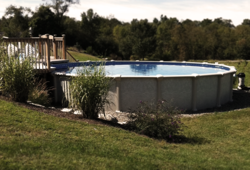 Aboveground Pool with Deck